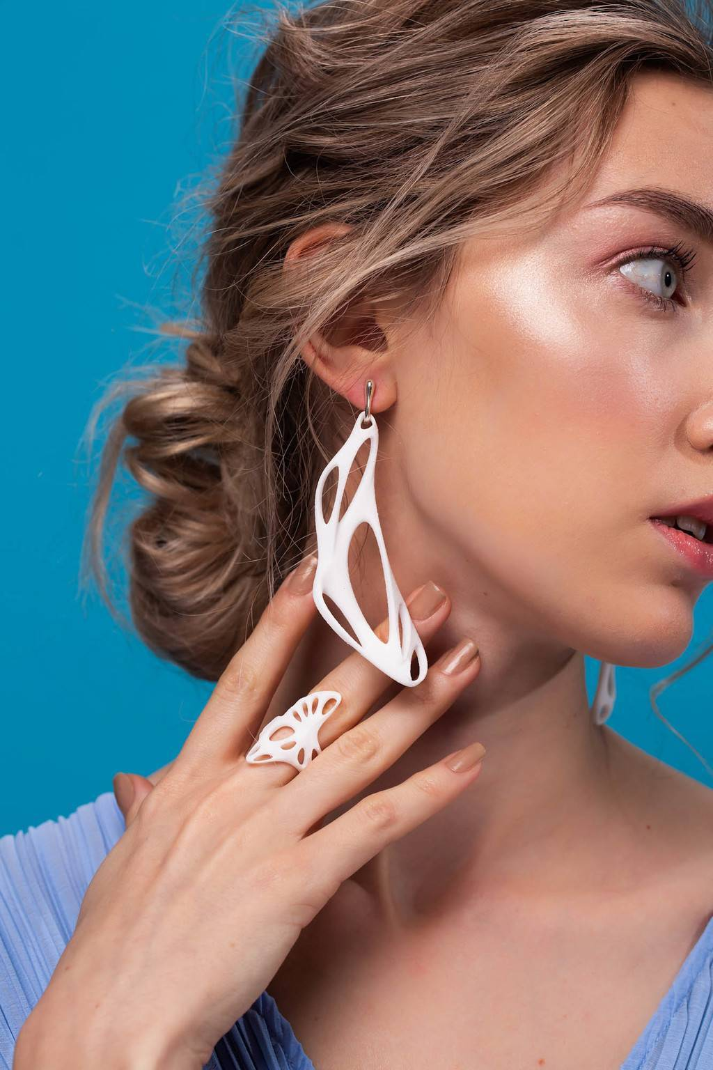 Серьги Earrings 01 Bioline 3d