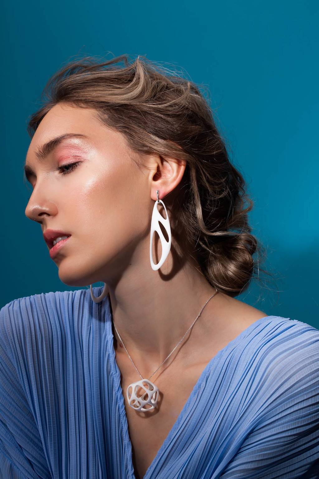 Серьги Earrings 02 Bioline 3d