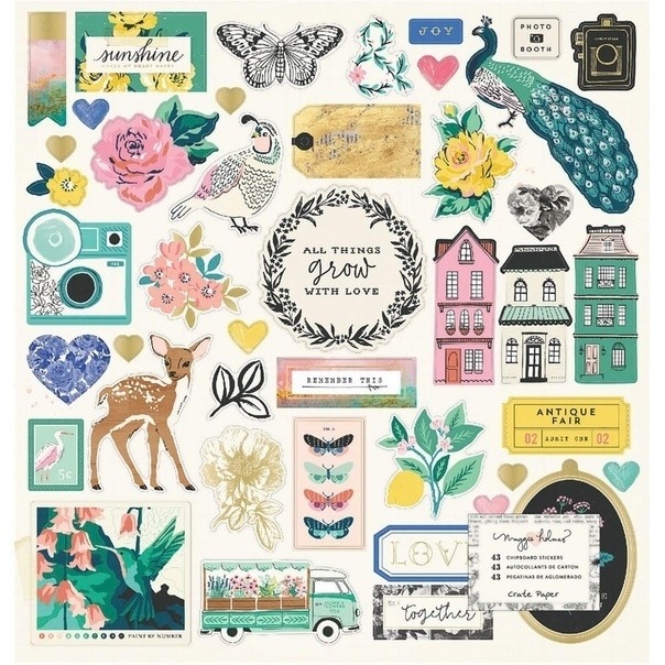 Maggie Holmes Flourish Chipboard Stickers