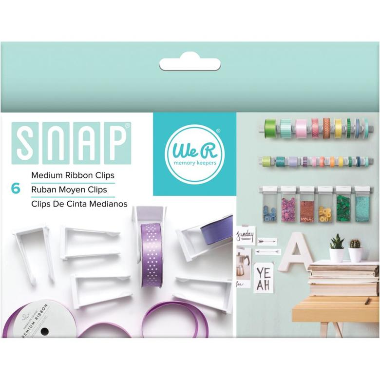 Клипсы для лент Snap Storage Ribbon Clips 6/Pkg Medium от We R Memory Keepers