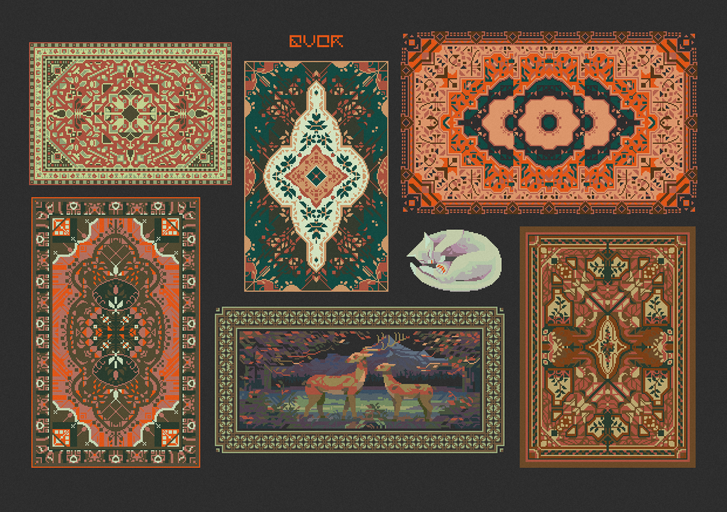 "sticker set ""soviet rugs"""