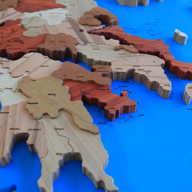 Map of Greece (on MDF)