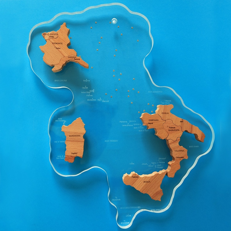 Map of Italy (on acryl+magnets)