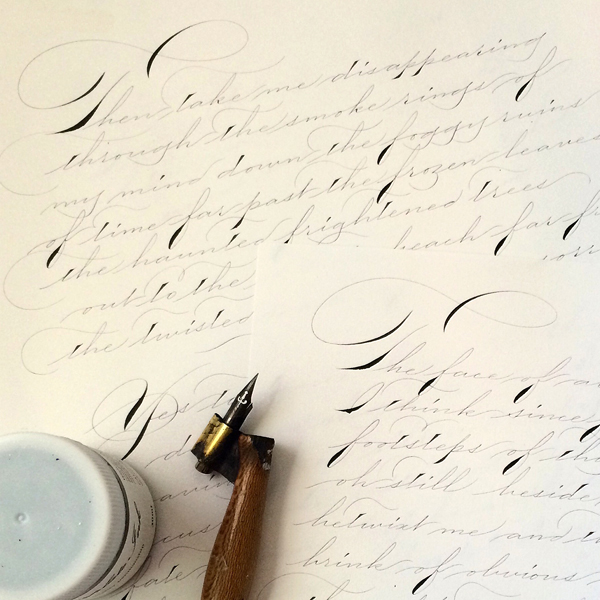 Walker's Copperplate ink