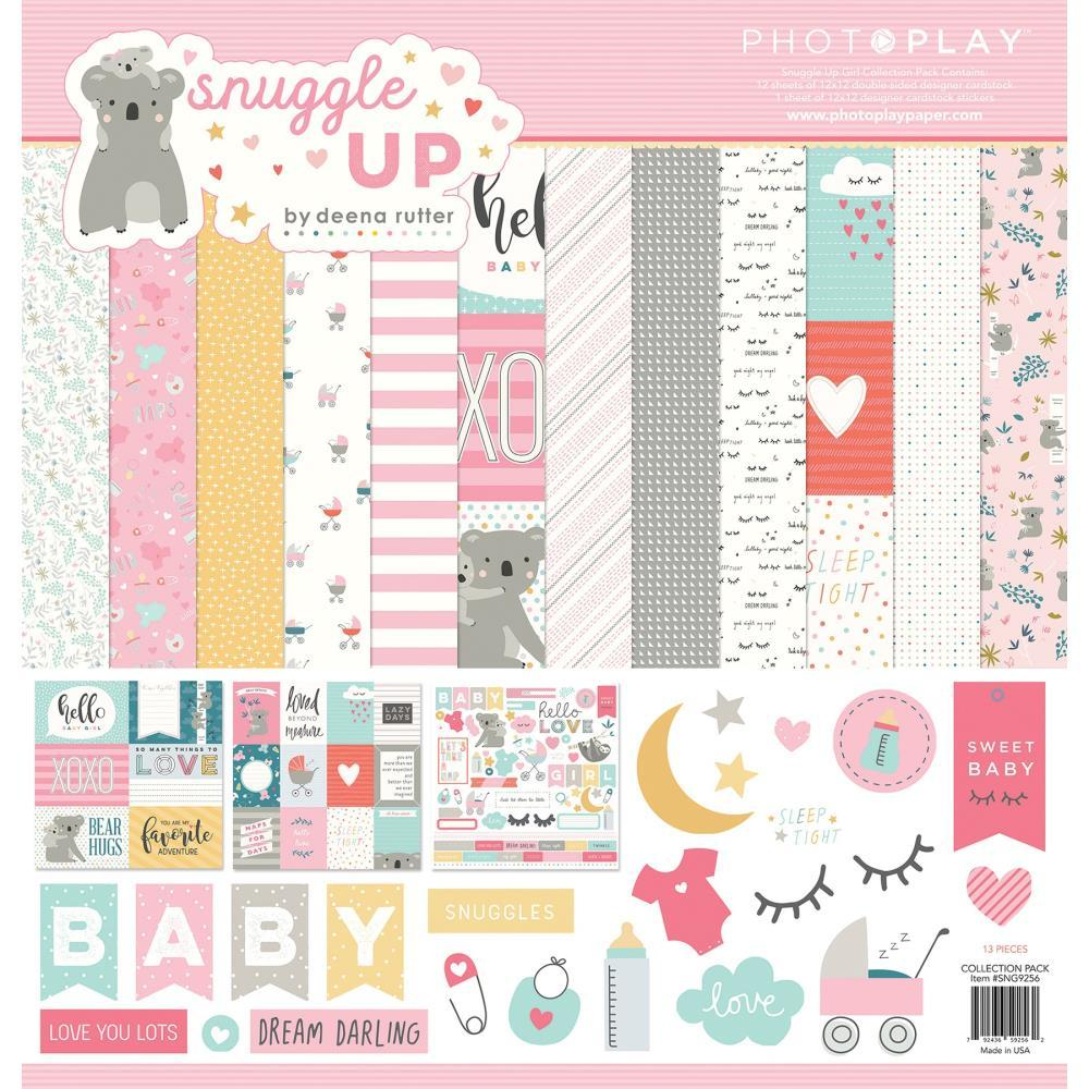 Набор бумаги 30х30 Snuggle Up Girl, Photoplay Paper
