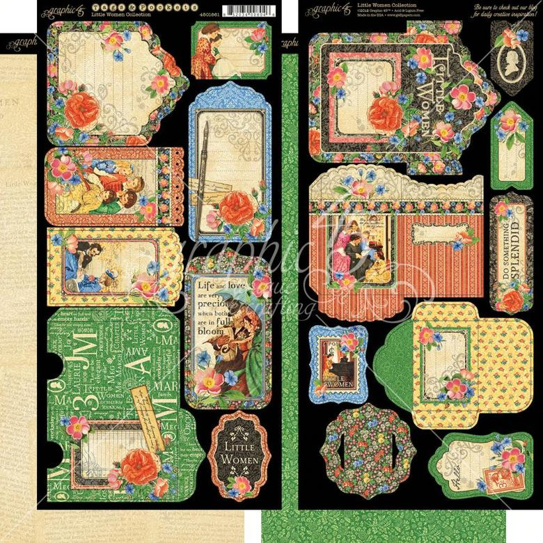 "Little Women Cardstock Die-Cuts 6""X12"" Sheets 2/Pkg"