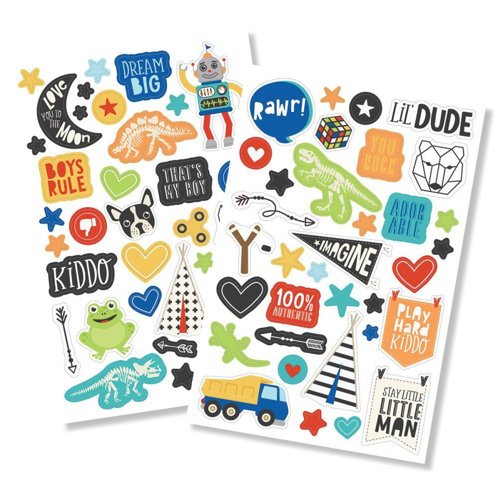 "Lil' Dude Puffy Stickers 4""X6"" 2/Pkg"
