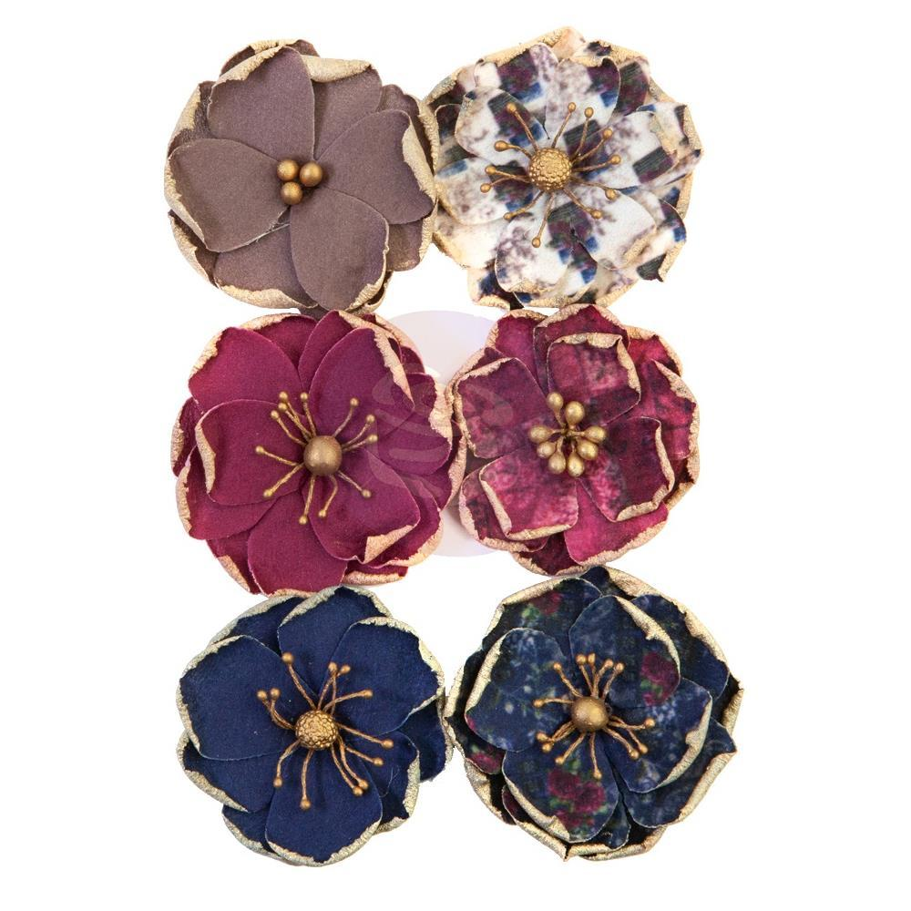 Prima Marketing Mulberry Paper Flowers Worn Elements/Darcelle, 644383