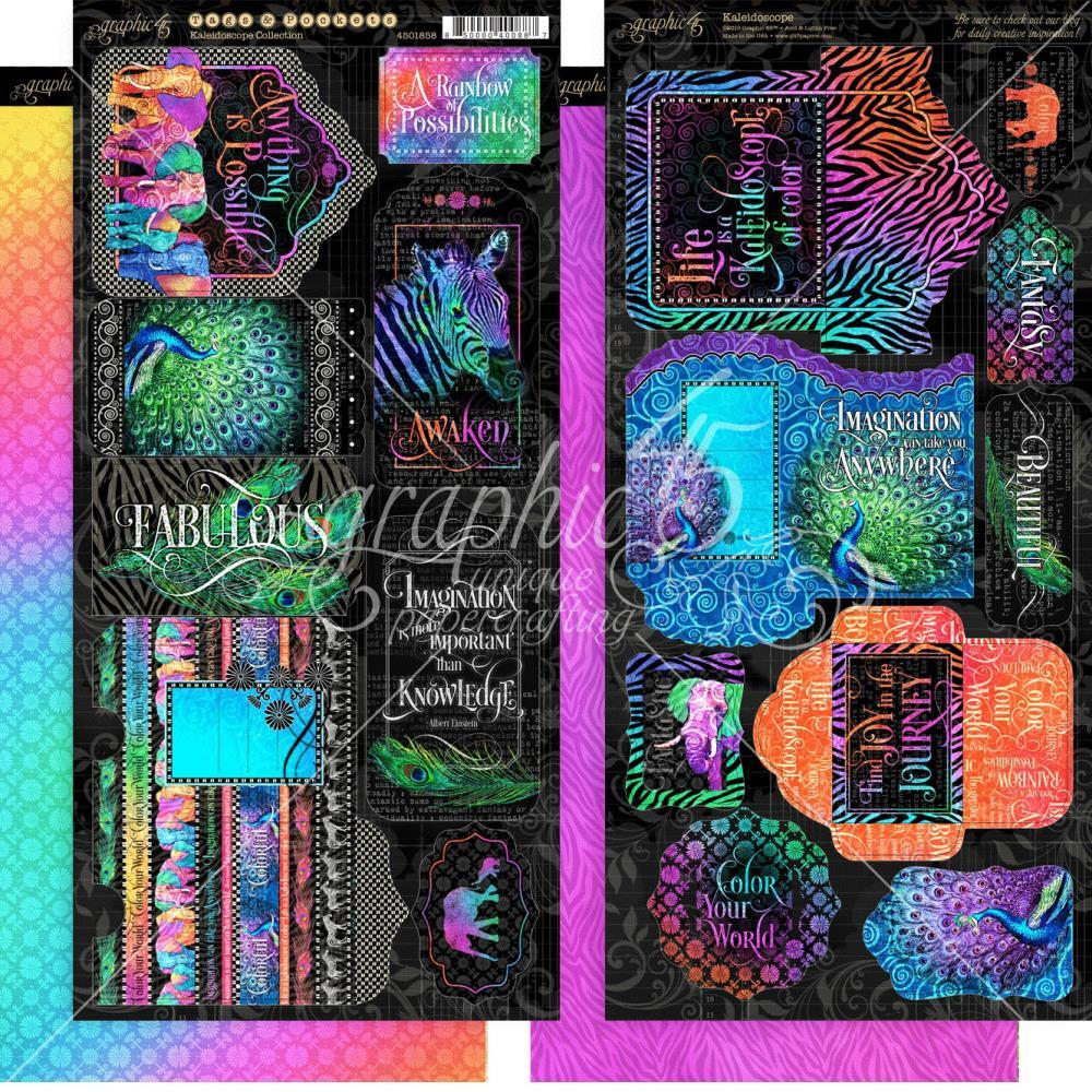 "Kaleidoscope Cardstock Die-Cuts 6""X12"" Sheets 2/Pkg Tags & Pockets"