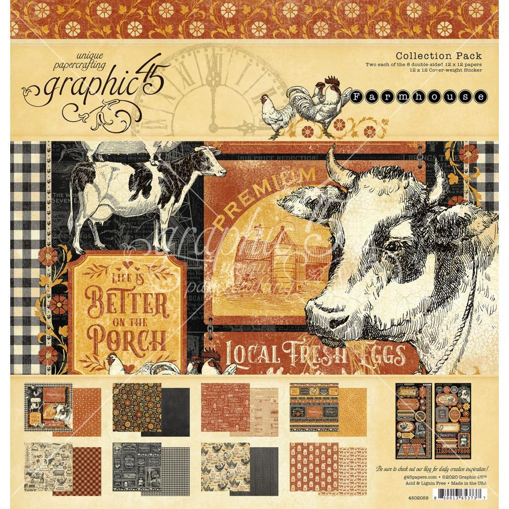 "Graphic 45 Collection Pack 12""X12"" Farmhouse"