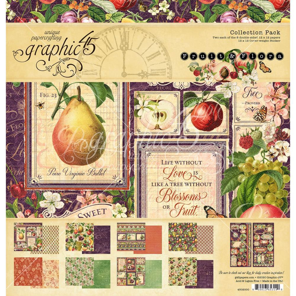 "Graphic 45 Collection Pack 12""X12"" Fruit & Flora"