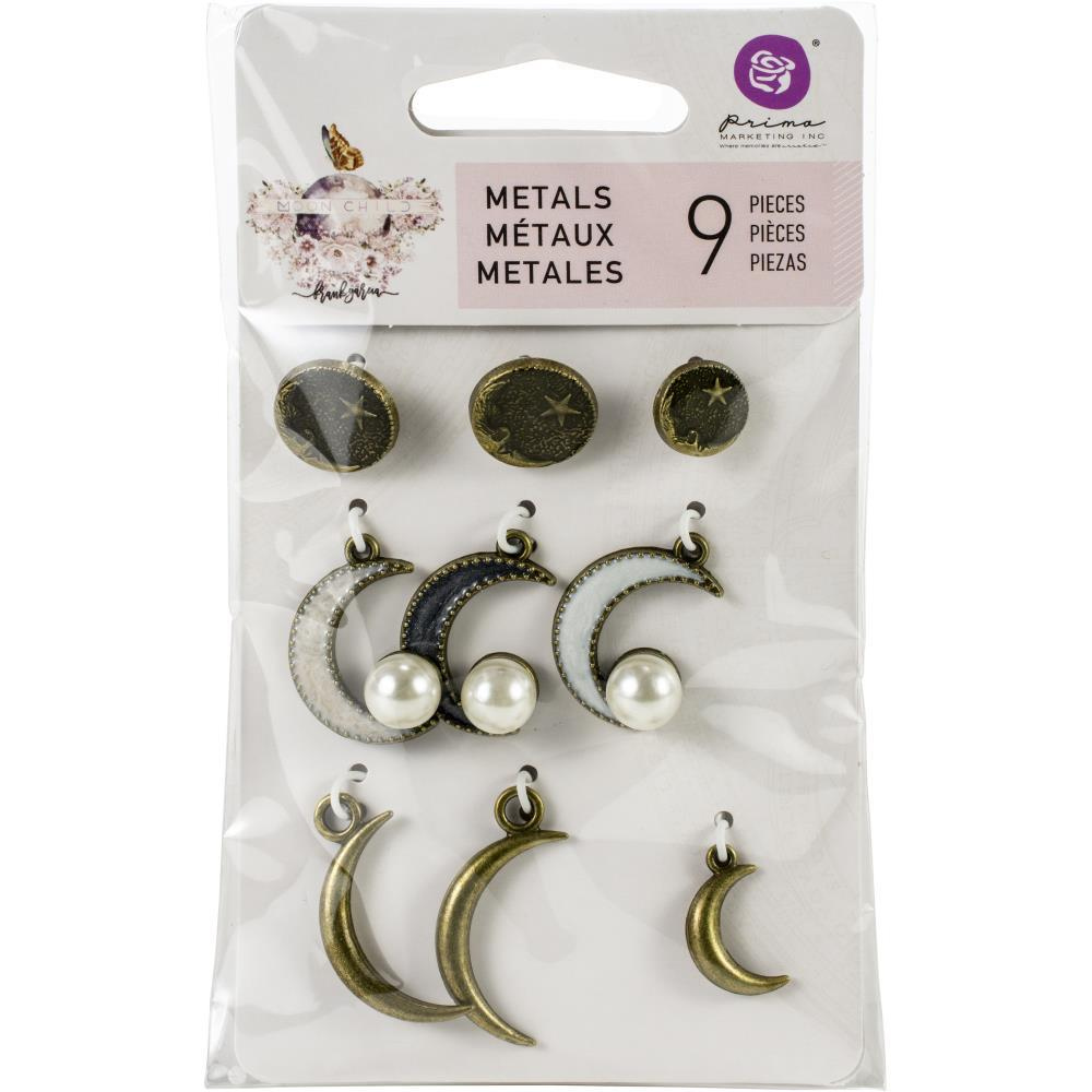 Prima Marketing Metal Trinkets Moon Child, Crescent 9/Pkg