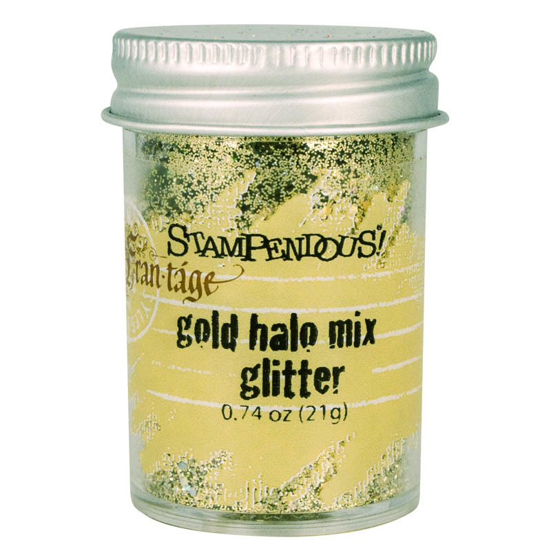 Stampendous Frantage Halo Glitter Mix .74oz Gold