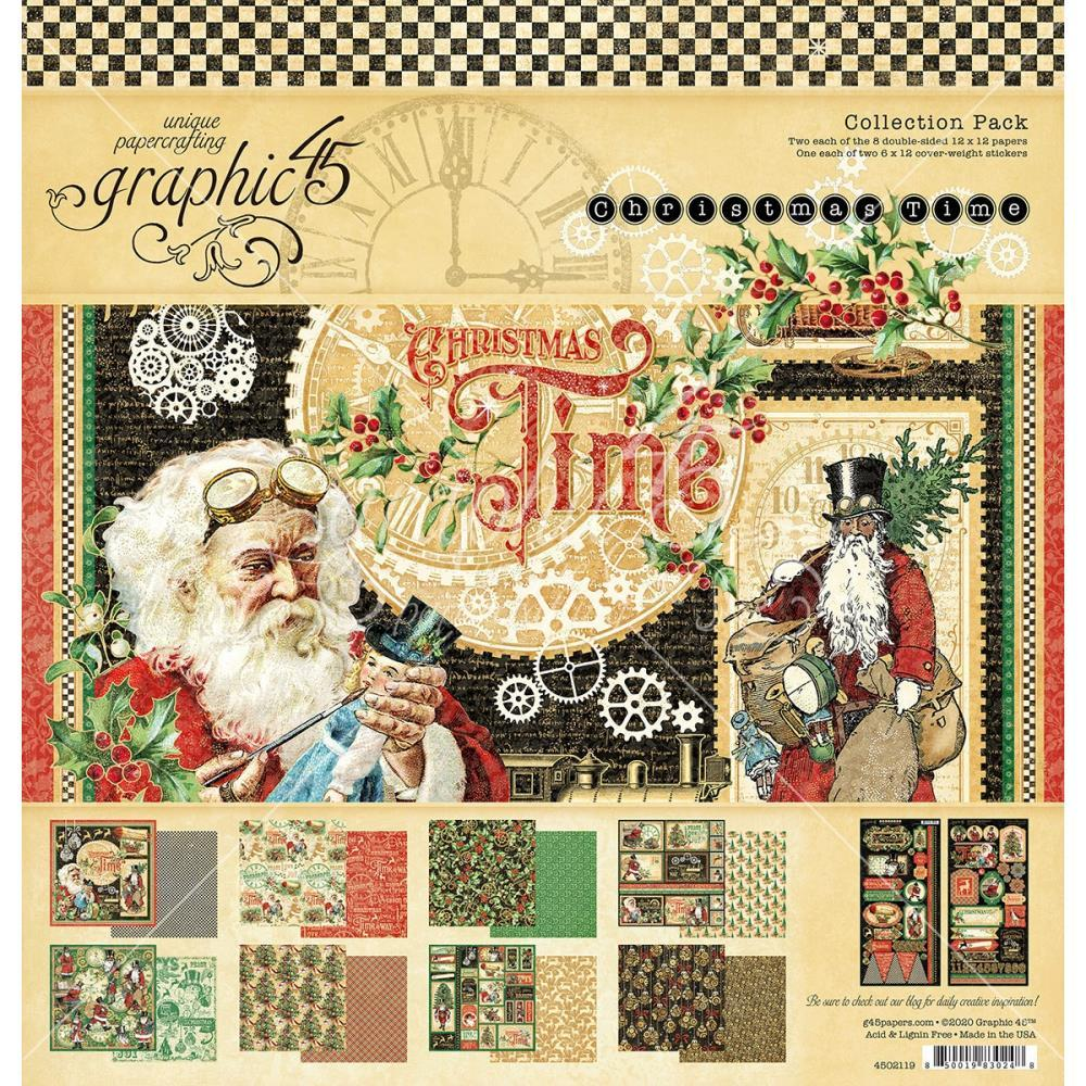 "Набор бумаги Graphic 45 Collection Pack 12""X12"" Christmas Time"