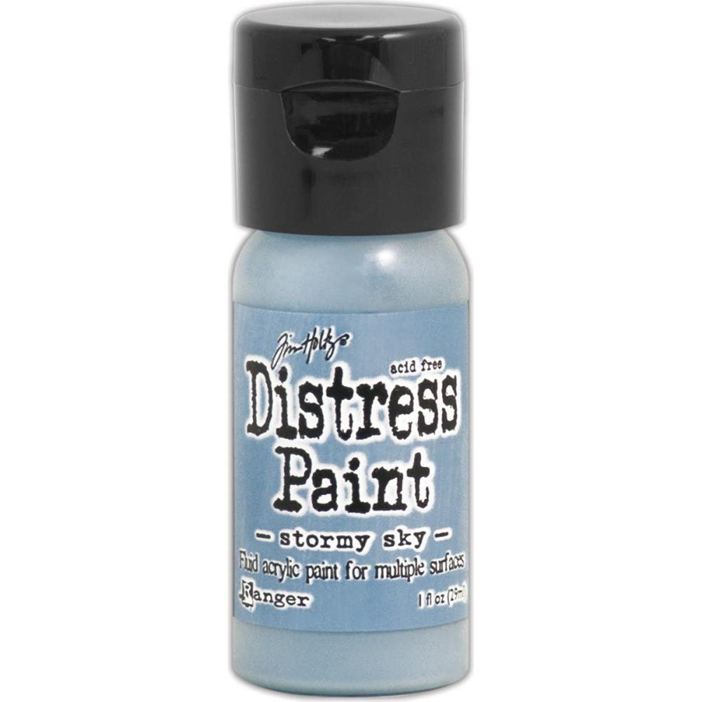 Краска Tim Holtz Distress Paint Flip Top 1oz Stormy Sky