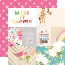 "Лист бумаги Make It Happen Changing Colors Double-Sided Cardstock 12""X12"" (3)"