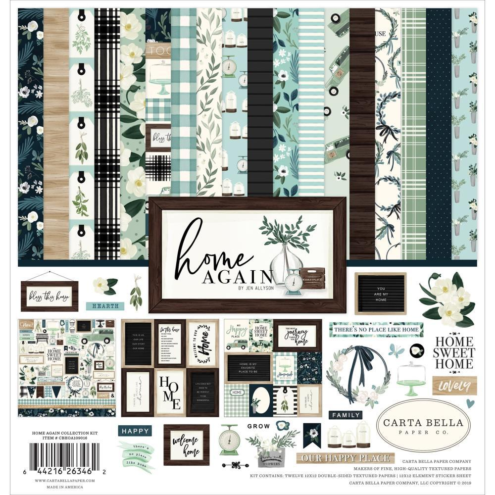 "Набор  бумаги Home Again Carta Bella Collection Kit 12 ""X12"" - 12 л (п.6)"
