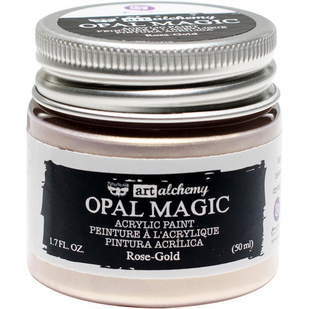 Акриловая краска  ROSE-GOLD Finnabair Art Alchemy Opal Magic Acrylic Paint  1.7 fl oz