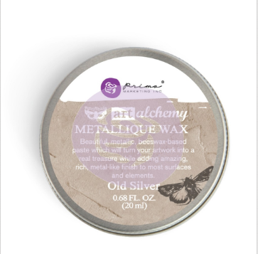 ВОСК Old Silver  Finnabair Art Alchemy Metallique Wax .68 Fluid Ounce