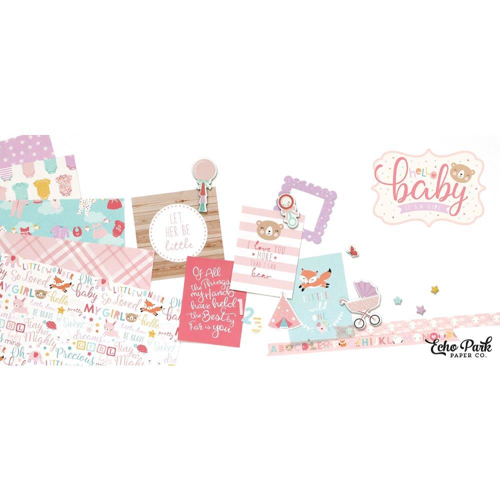 "Набор бумаги Hello Baby Girl Echo Park Collection Kit 12""X12"" (п.7)"