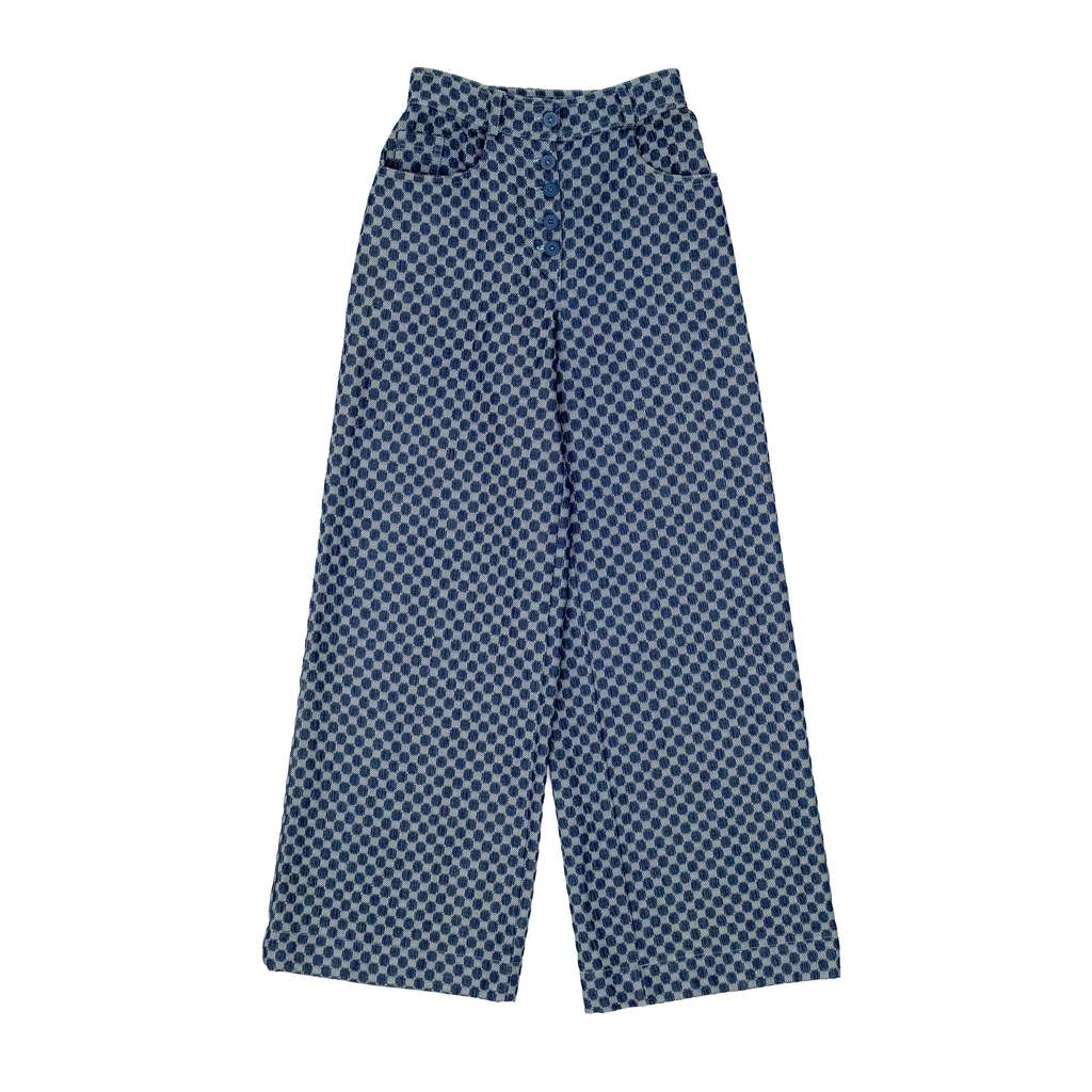 Blue check pants