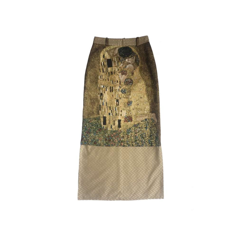 Golden tapestry skirt
