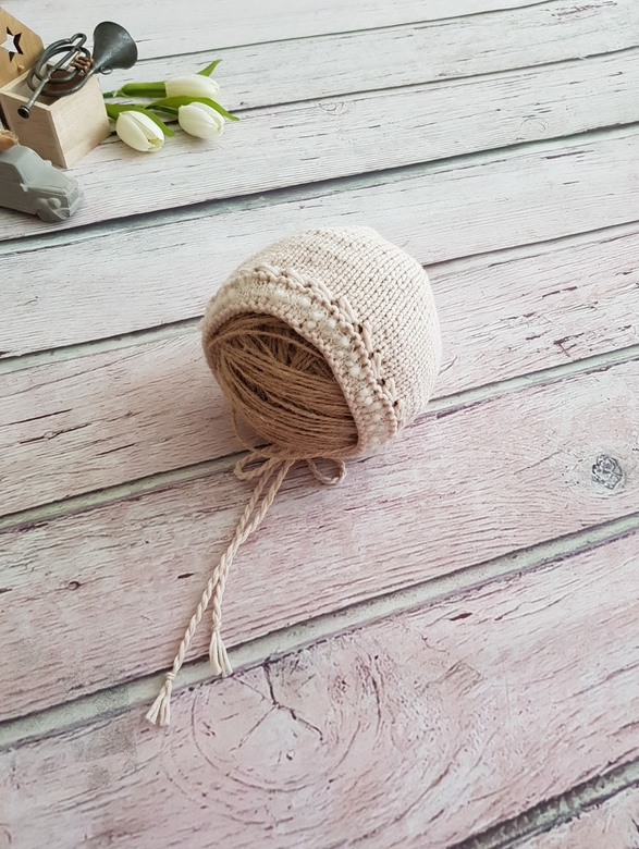 Hat with cord and edge Cotton
