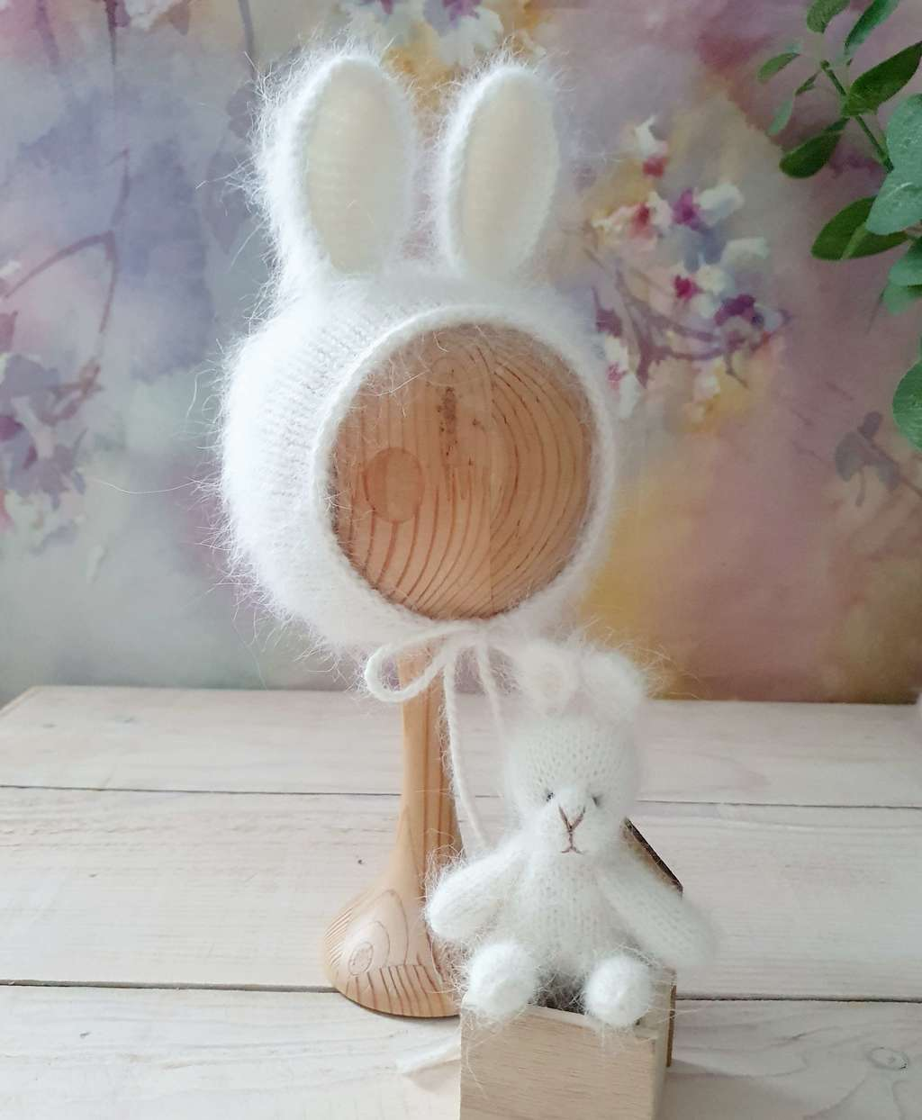 Hat Bunny with cord and short ears