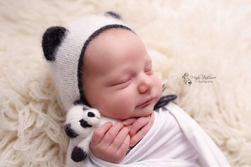 Hat Panda with cord