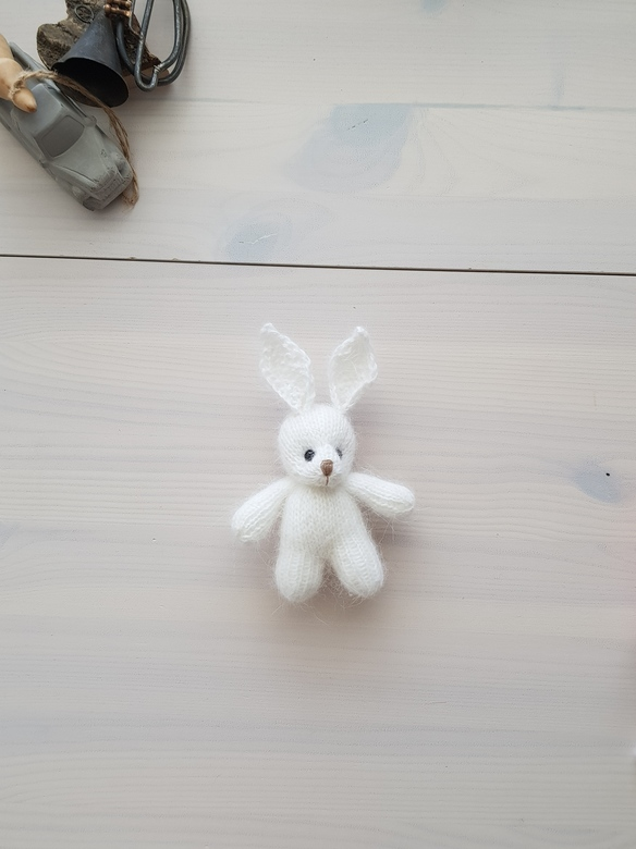 Plush toy Bunny with short ears 10cm