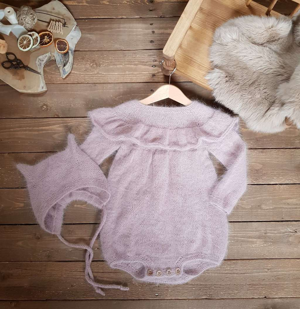 Ruffle Romper with long sleeves for kids