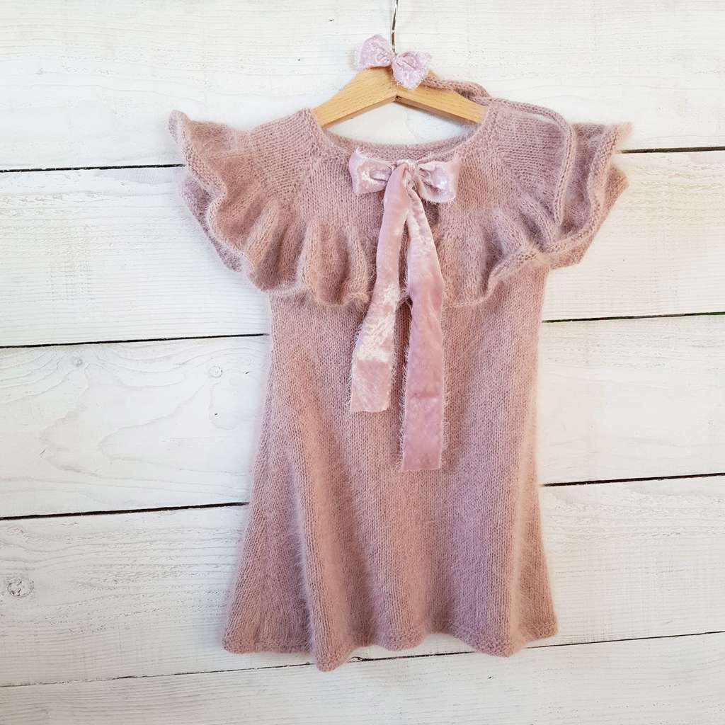 Ruffle Dress with short sleeves for kids