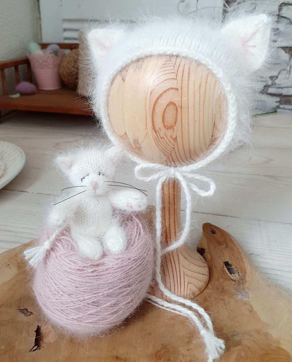 Hat Cat  with cord