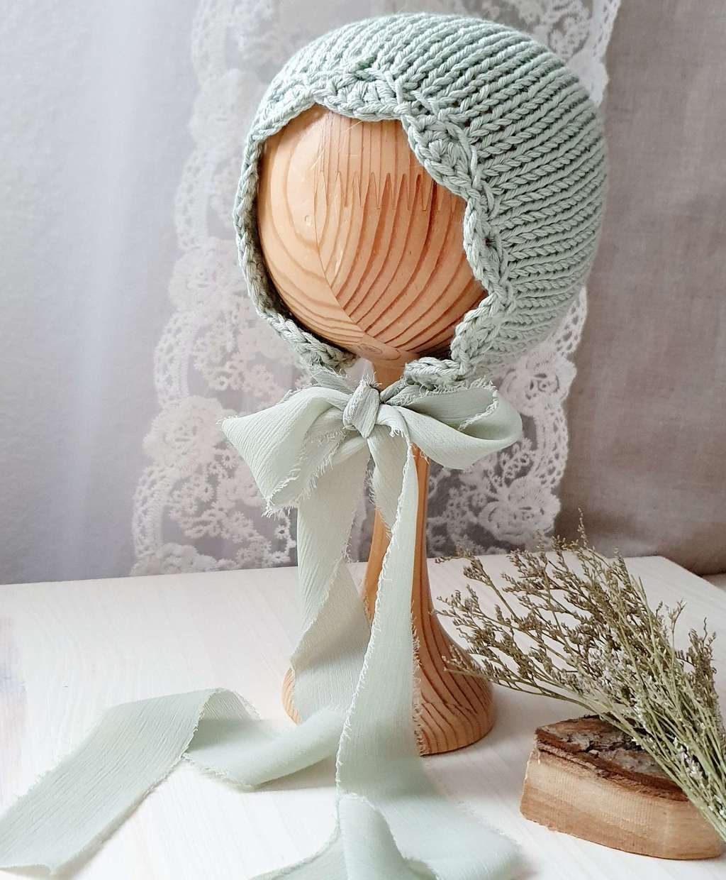 Hat with ribbon Cotton