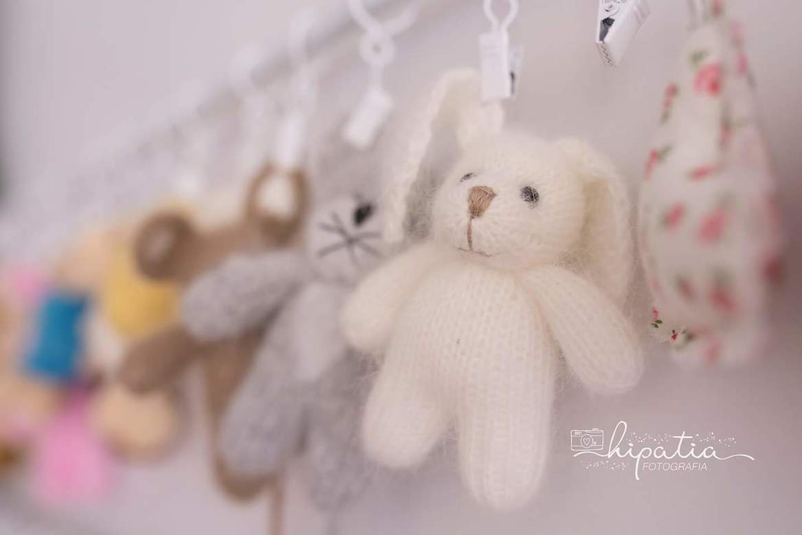 Plush toy Bunny with long ears  10cm
