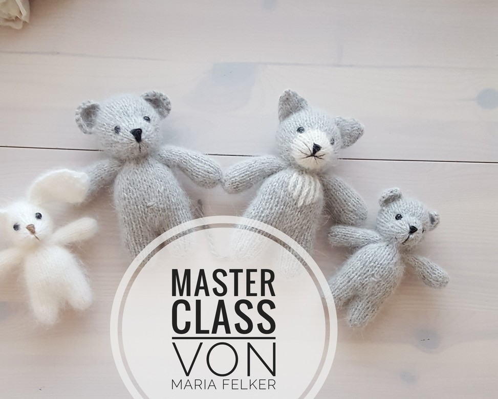 Master Classe in Russian plush toy bear 15cm