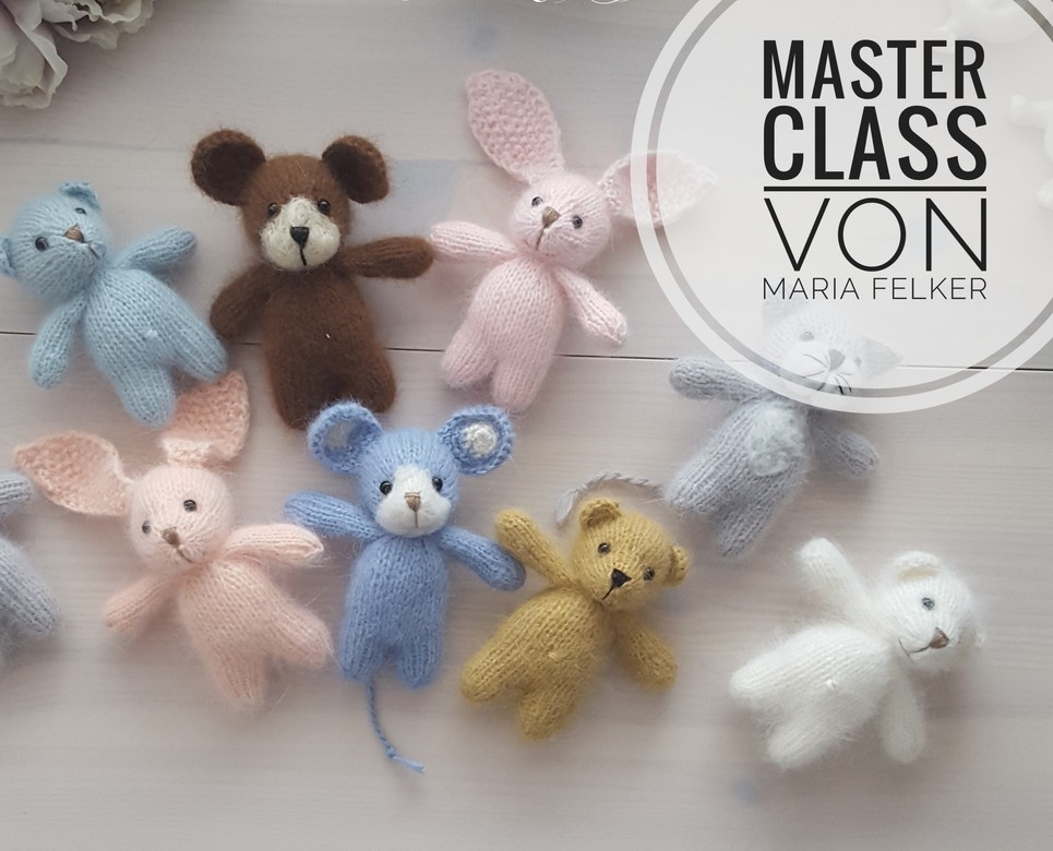 Master Classe in Russian plush toy bear 10cm