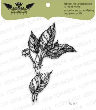 "Штамп ""Sprigs of leaves and blooms"" Lesia Zgharda Design"