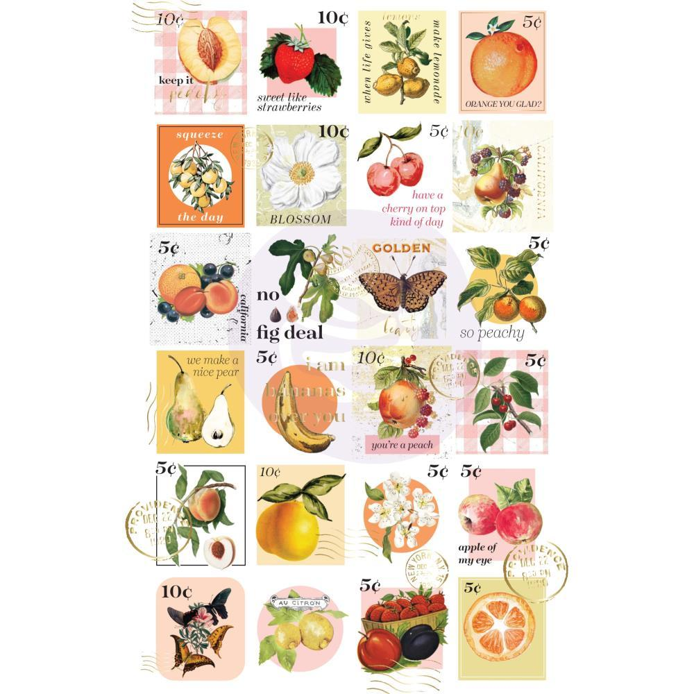 Наклейки Postage Stamps Prima Marketing Fruit Paradise Stickers 48/Pkg