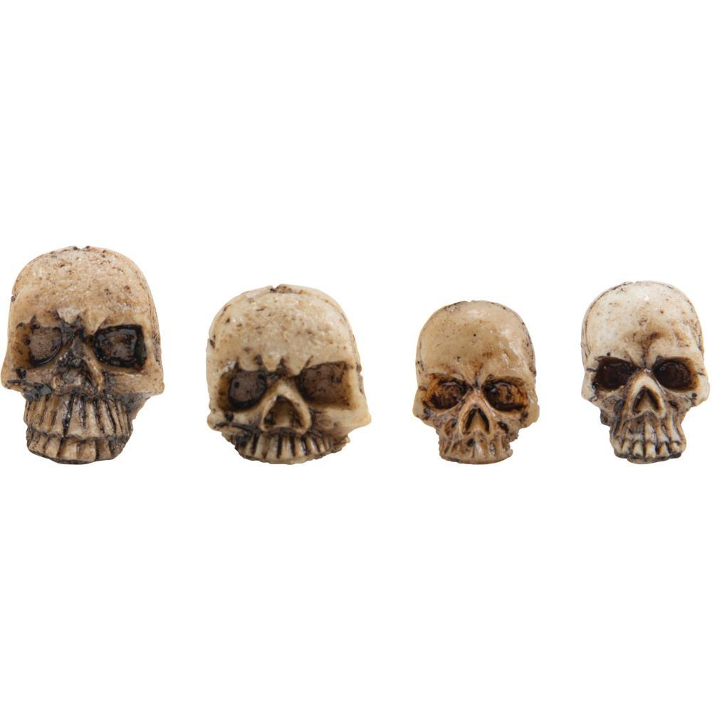 Декоратинвые черепа Idea-Ology Resin Skull Fragments 12/Pkg 4 Designs/3 Each