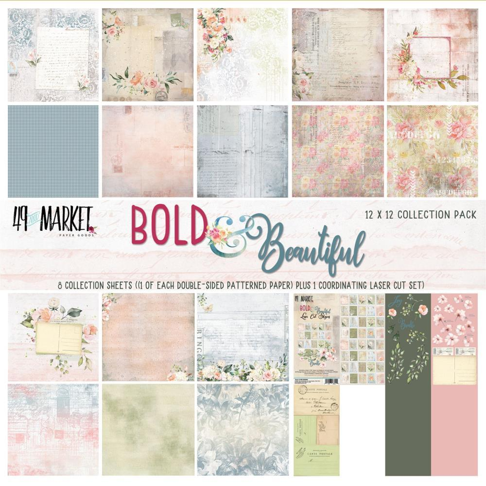 "Набор бумаги Bold & Beautiful 49 And Market Collection Pack 12""X12"""