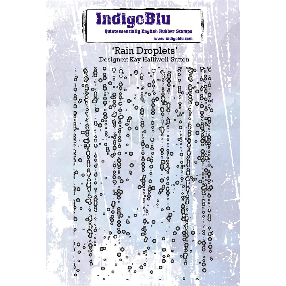 "Штамп Rain Droplets IndigoBlu Cling Mounted Stamp 5""x4"""