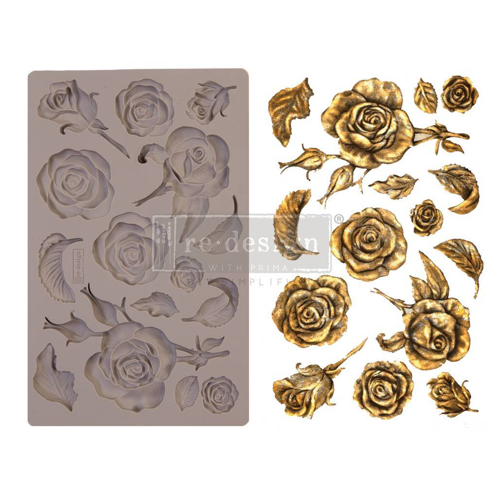"Молд Fragrant Roses Prima Marketing Re-Design Mould 5""X8""X8mm"