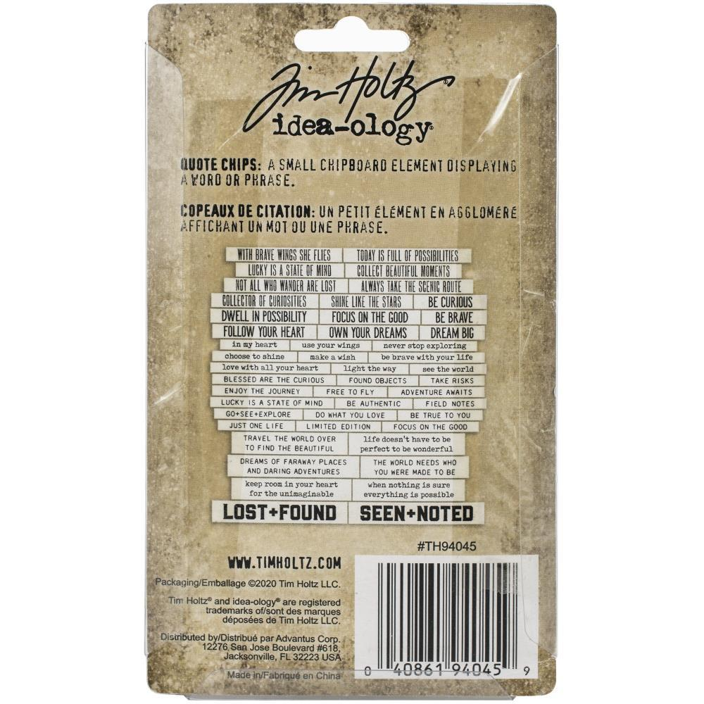 Чипборд Theories Idea-Ology Chipboard Quote Chips 47/Pkg