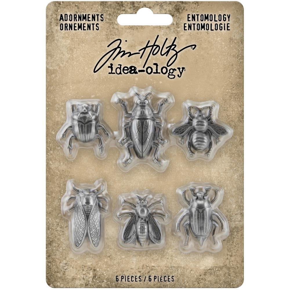 Металлические украшения Entomology Idea-Ology Metal Adornments 6/Pkg