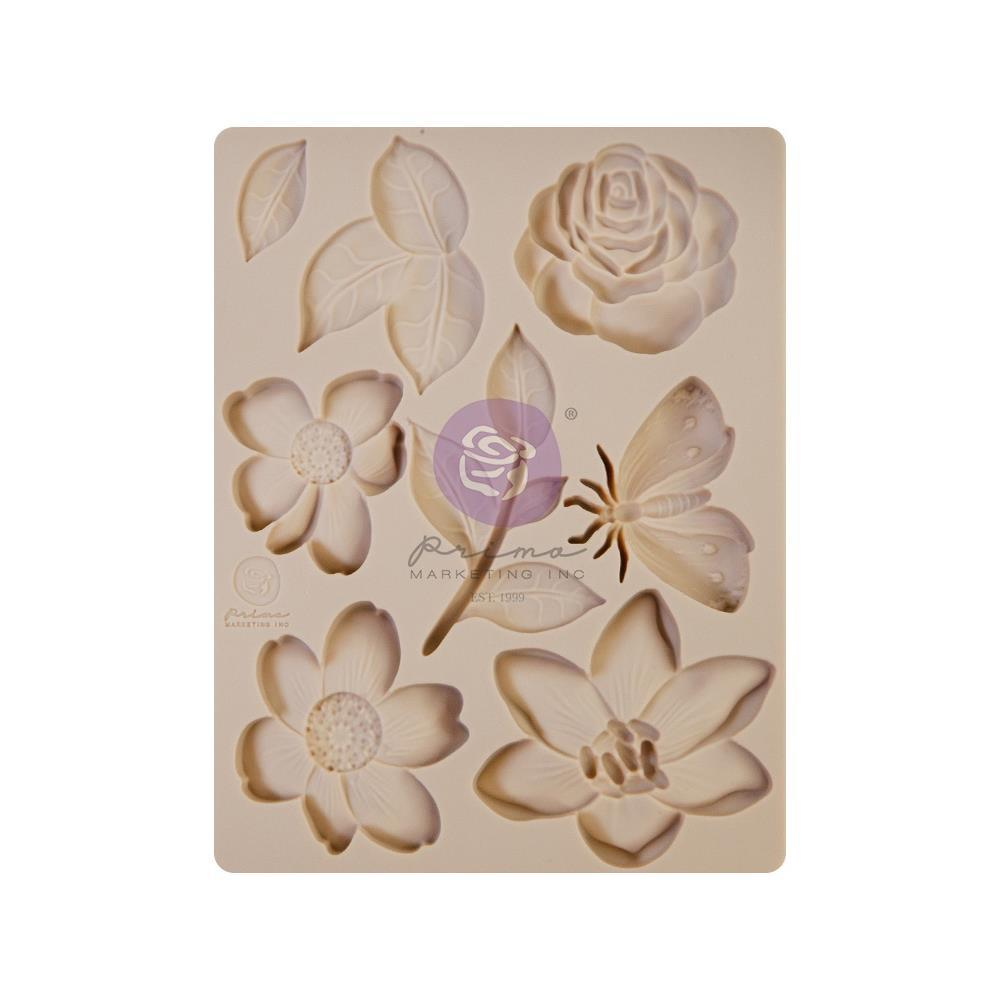 "Молд Watercolor Floral Prima Marketing Decor Mould 3.5""X4.5""X8mm"