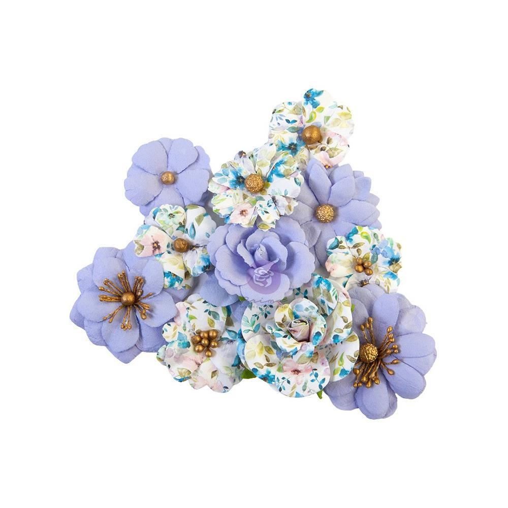 Цветы Blank Canvas/Watercolor Floral Prima Marketing Mulberry Paper Flowers