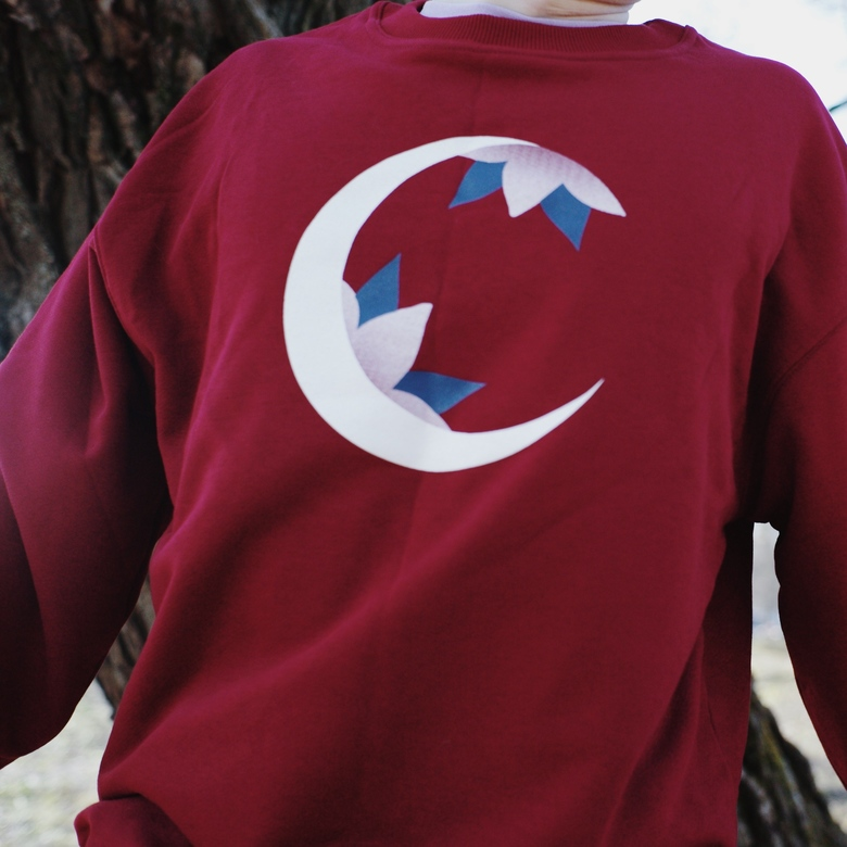 crescent sweatshirt (red)
