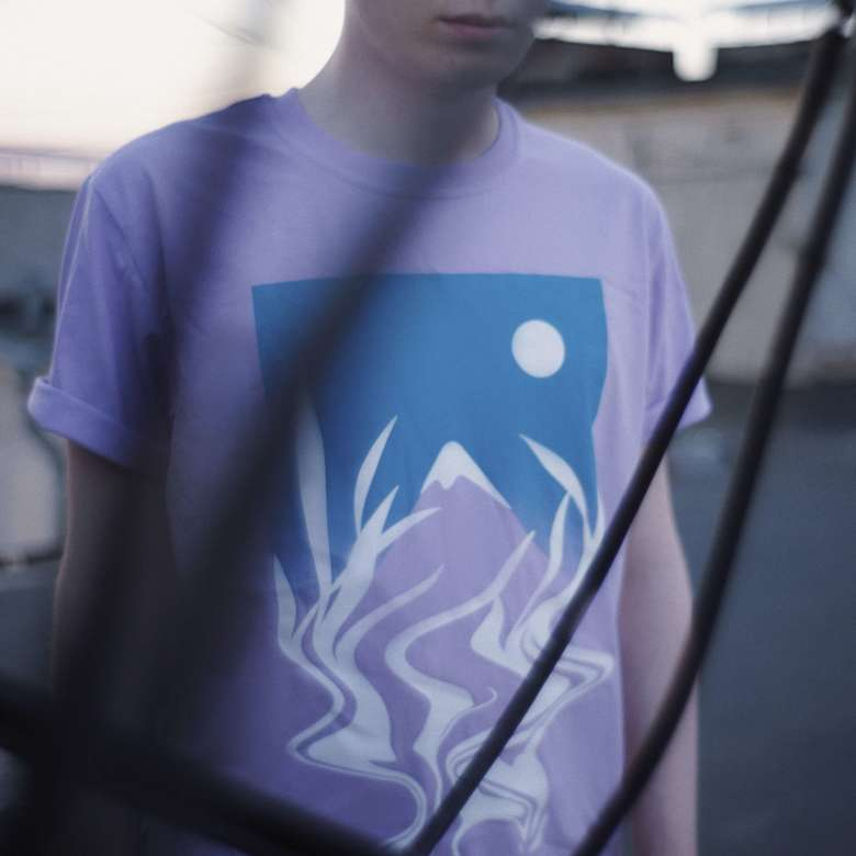mountain t-shirt (cyan)