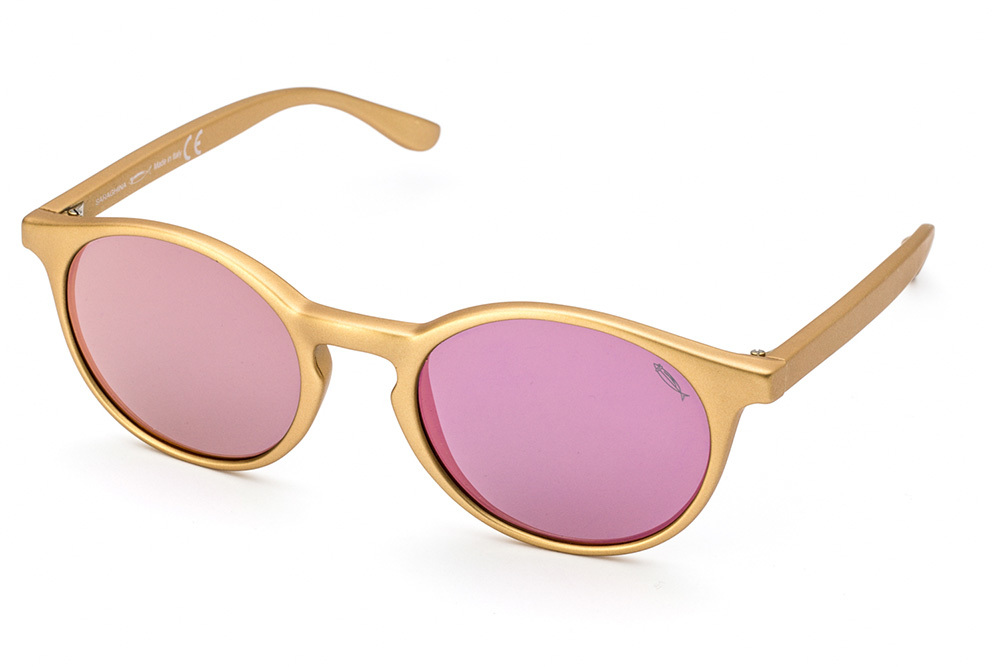 GILDA FLAT golden with pink